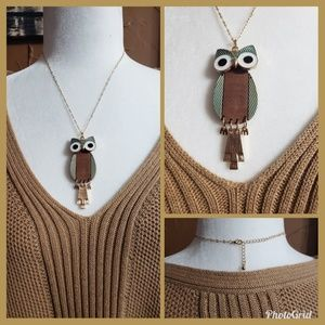 Jewelry - 🌷SALE🌷Pretty Owl Pendant Necklace NWOT